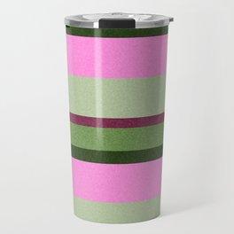 Pink Roses in Anzures 1 Stripes 3H Travel Mug