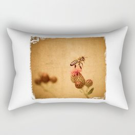 The Thistle And The Bee Rectangular Pillow