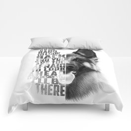 German Shepherd Quote Text Comforters