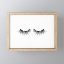 Eyelashes Framed Mini Art Print