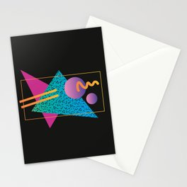 Memphis Pattern 24 - 80s / 90s Retro Stationery Cards