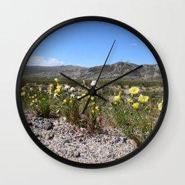 Desert Wildflowers Wall Clock