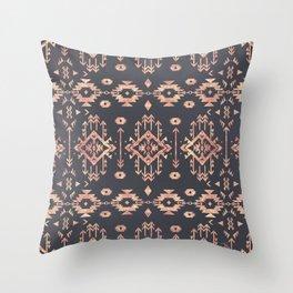 Trendy tribal geometric rose gold pattern Throw Pillow