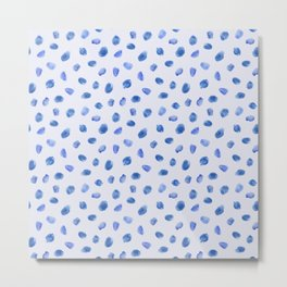 Blue vibes #3 || watercolor Metal Print