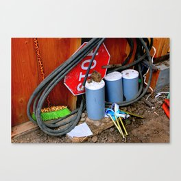Garages Ail - Fancy Broom And Wind Chimes Canvas Print
