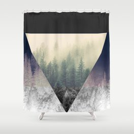 Inverted Forest Shower Curtain