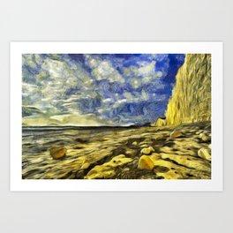 Birling Gap And Seven Sisters Van Gogh Art Print