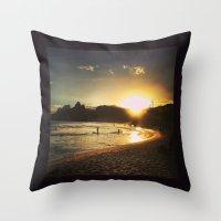 rio de janeiro Throw Pillows featuring Rio de Janeiro - Brasil  by Claudia Araujo