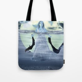 Sinking the Moon Tote Bag