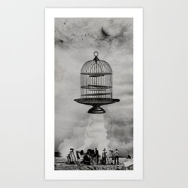 spaceship jail Art Print