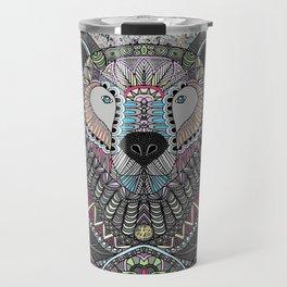 Neon Tribal Bear Travel Mug