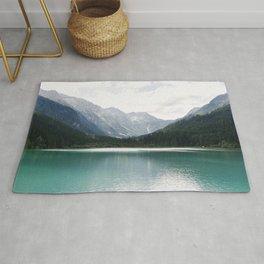 Beautiful lake in Austria | Jägersee | Europe | Turquoise water | Mountains | Travel Photography | Art Print Rug