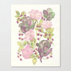 Autumn Bouquet - Kale & Rose Canvas Print
