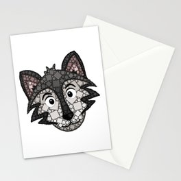 Howl You Doin'? - Cute Wolf - Puppy - 57 Montgomery Ave Stationery Cards
