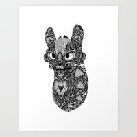 toothless Art Prints featuring TOOTHLESS by FilippoCardu