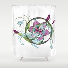 spring yoga Shower Curtain