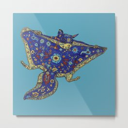 Magic Carpet Flying Squirrel Metal Print