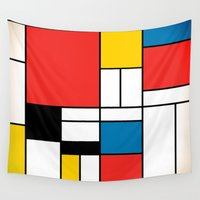 mondrian Wall Tapestries featuring Mondrian  by Studio 401