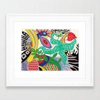rio de janeiro Framed Art Prints featuring rio de janeiro 1 by Maca Salazar
