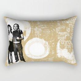 Walking Through Fire... Rectangular Pillow