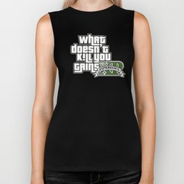 What Doesn't Kill You Gains XP Biker Tank