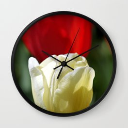 White & Red Wall Clock