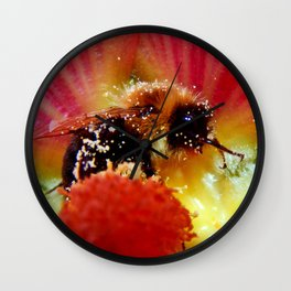 The Bee in the Flower Wall Clock