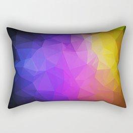 Abstract polygonal print, stylish geometry Rectangular Pillow