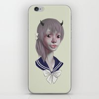 girly iPhone & iPod Skins featuring GIRLY by nijikon