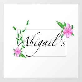 Names.Personalised gift ideas Art Print