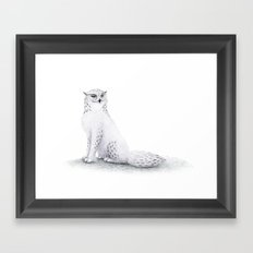 Snowy Fowl II Framed Art Print