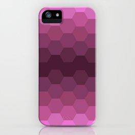 Purple Honeycombs iPhone Case