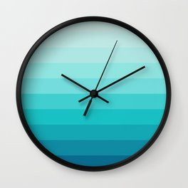 TURQUOISE GRADIENT Wall Clock