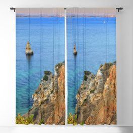 Praia Do Camilo At Sunset. Algarve. Portugal Blackout Curtain