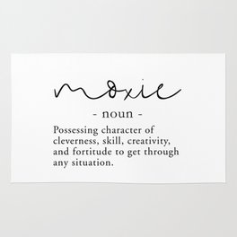 Moxie Definition - Minimalist Black Rug