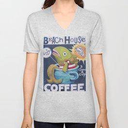 Beach House Coffee Unisex V-Neck