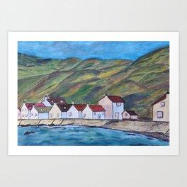 Colorful harbour Art Print