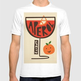 Aperol Spritz Cocktail Print T-shirt