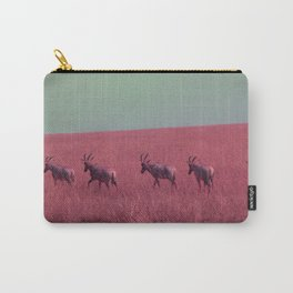 Line of Hartebeest in Red Carry-All Pouch