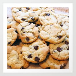 Chocolate Chip Cookies Art Print