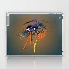 Grunge violet eye Laptop & iPad Skin