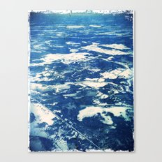 Ottawa Winter from The Air Canvas Print