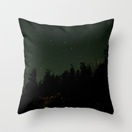 Nightscape at Orcas Island Throw Pillow