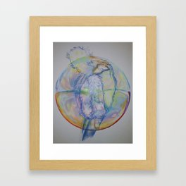 BUBBLE GURL Framed Art Print