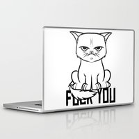grumpy Laptop & iPad Skins featuring Grumpy Grumpy by Navass