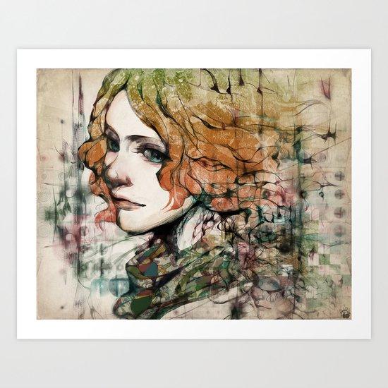 Line-Dots-Seperate Art Print