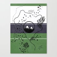 middle earth Canvas Prints featuring Middle Earth by Cécile Pellerin