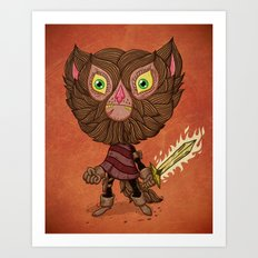 Adventure Cat Art Print