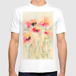 Poppies (abstract) T-shirt