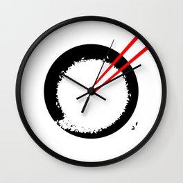 Enso in rice bowl Wall Clock